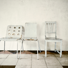 3 white chairs by Tee Lip Lim - Instagram & Mobile iPhone ( Chair, Chairs, Sitting )