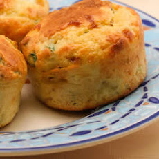 Cottage Cheese and Egg Breakfast Muffins Recipe with Bacon and Green Onions