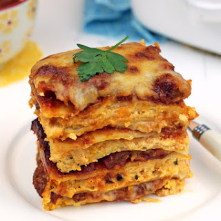Hot Sausage & Sweet Potato Lasagna