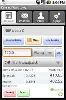 Screenshot of Kursarz Walutowy - kursy walut