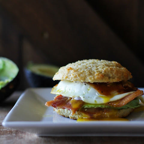 Bacon, Egg, and Avocado Mole Breakfast Biscuits