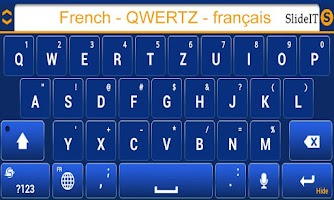 Screenshot of SlideIT French QWERTZ Pack