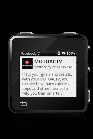 MOTOACTV plugin for Facebook.