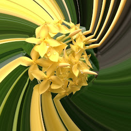 Yellow Twirl!! by Dick Shia - Digital Art Things