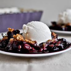Balsamic Blueberry Crisp