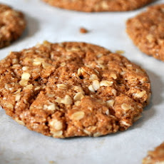 Crunchy Almond Butter Oatmeal Cookies