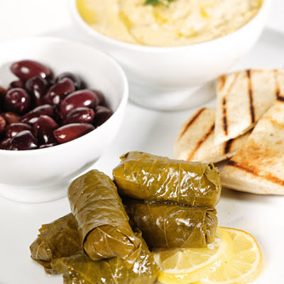 Brown-Rice-Stuffed Grape Leaves