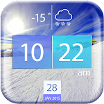 Cool Weather and Clock Widget APK Image