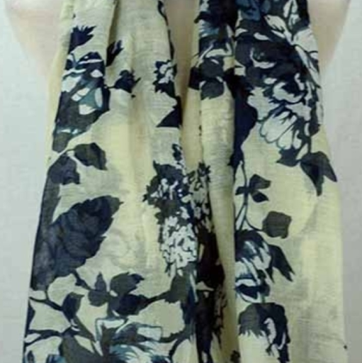 Big flower print scarf