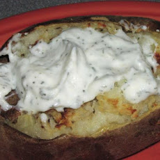 Stuffed Baked Potatoes with Horseradish Cream