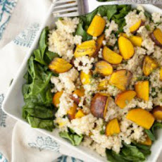 Roasted Beet and Millet Spinach Salad