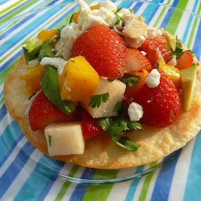 Strawberry TostadaAdapted from the California Strawberry Commission