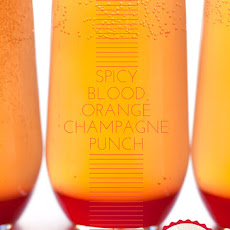 Spicy Blood Orange Champagne Punch