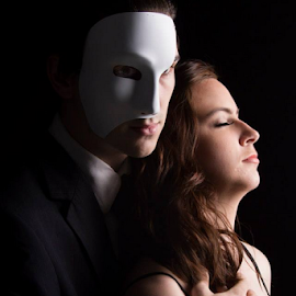 Modern Day Phantom by Stephanie Simmons - People Couples ( couple, phantom, people, masked, portrait )