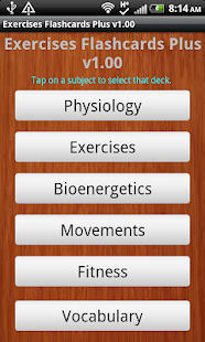 Exercise Flashcards Plus - screenshot