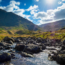 Haweswater lake district by Gareth Fleming - Landscapes Mountains & Hills ( hills, stream, lakedistrict )