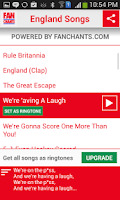 Screenshot of England World Cup Ringtones