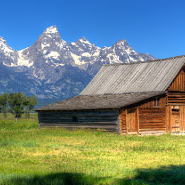 The Row by Ryan Moyer - Buildings & Architecture Other Exteriors ( mountains, barn, wyoming, architecture, mormon row, grand teton national park )