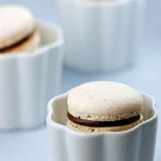 Italian Meringue Hazelnut Macarons with Chocolate Hazelnut Spread