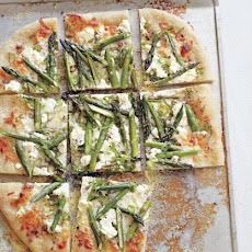 Pizza with Pancetta, Asparagus & Goat Cheese