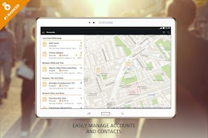 Screenshot of ForceManager mobile CRM
