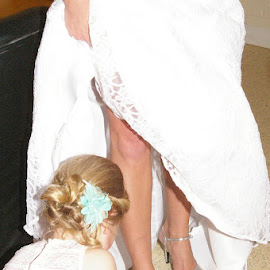 Mother and Daughter by Jill Rowlan - Wedding Getting Ready ( wedding, bride and daughter, Wedding, Weddings, Marriage )