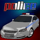 Ultra 3D police Car parking icon