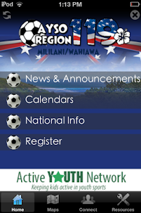 AYSO Region 119 - screenshot
