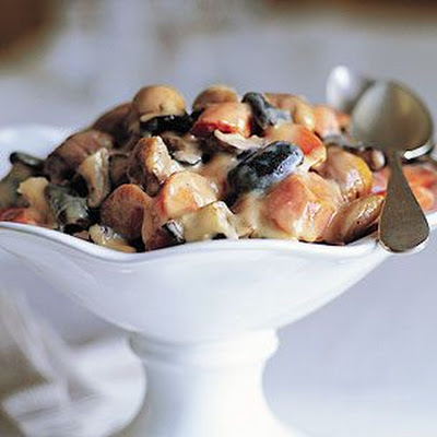 Braised Chestnuts with Madeira Cream Sauce