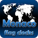 Monaco flag clocks icon