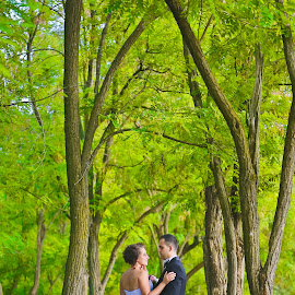 Weed and Trees by Raffael Don - People Couples ( tree, weed, trees, bride, woods, Wedding, Weddings, Marriage )