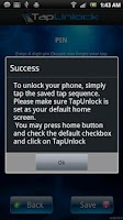 Screenshot of Tap Unlock (Screen unlock)
