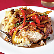 Roast Chicken with Balsamic Bell Peppers