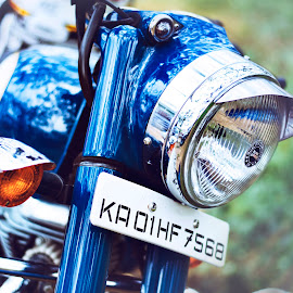 Classy Enfield by Sounak Mukherjee - Transportation Motorcycles ( motorcycles, blue, bikes, royalenfield, class, bullet )