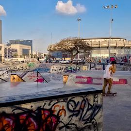 Hi! I Phone by Robert Namer - City,  Street & Park  Street Scenes ( skateboarding, iphoneography, city parks, graffiti, lifestyle, street, sports, city life, cityscape, iphone, street scenes, street photography )