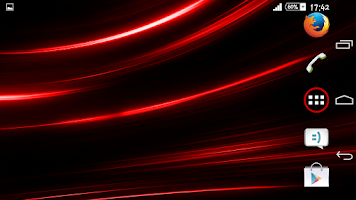 Screenshot of Theme Xperien Rays Red