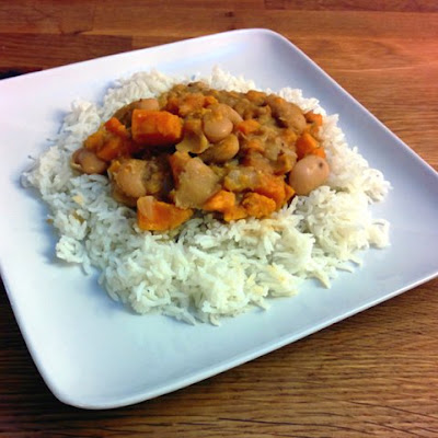 Sweet Potato and Butter Bean Korma