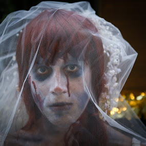 The Bride by VAM Photography - Public Holidays Halloween ( parade, costume, nyc, bride, man, halloween,  )