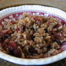 Brown Rice With Apples and Cranberries
