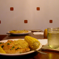 Cornmeal Crusted Catfish and Green Rice Pilaf