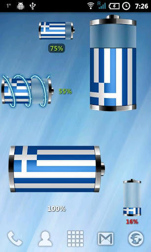 Greece: Flag Battery Widget