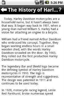 Harley Davidson Guide - screenshot