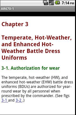 Uniform Regulation AR670-1