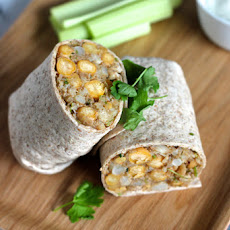 Curried Cauliflower Chickpea Wraps