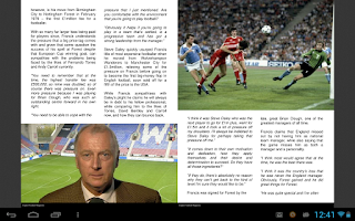 Screenshot of English Football Magazine