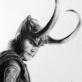Loki by Khanes Chaengpradit - Drawing All Drawing ( loki, traditional art, thor, portrait, drawing, the avengers, tom hiddleston )