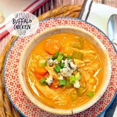 Skinny Buffalo Chicken Soup