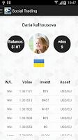 Screenshot of Social Trading