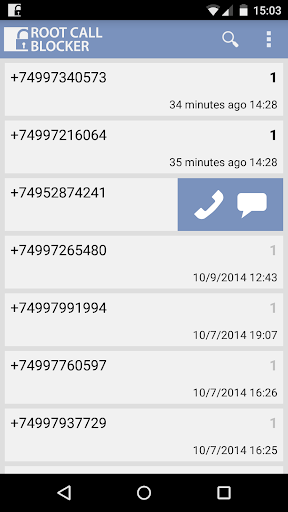 Root Call Blocker Pro - screenshot