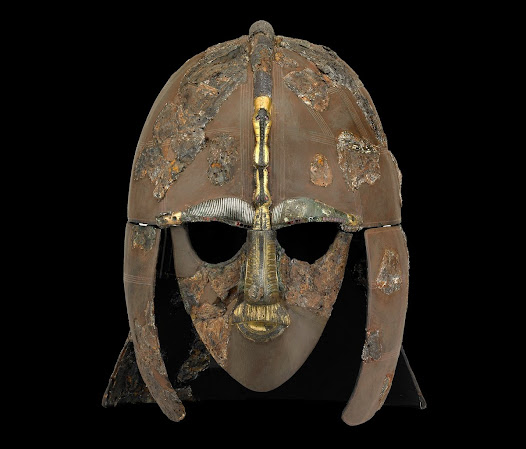Helmet from the Sutton Hoo ship burial